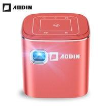 Aodin fusão 50 ansi lumens wifi portátil mini projetor dlp led tv projetor, suporte 1080 p, fluxo 50000 + tv/filmes
