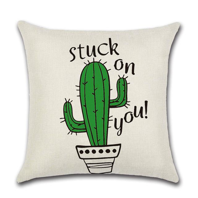 Cactus Succulent Throw Pillow Cover