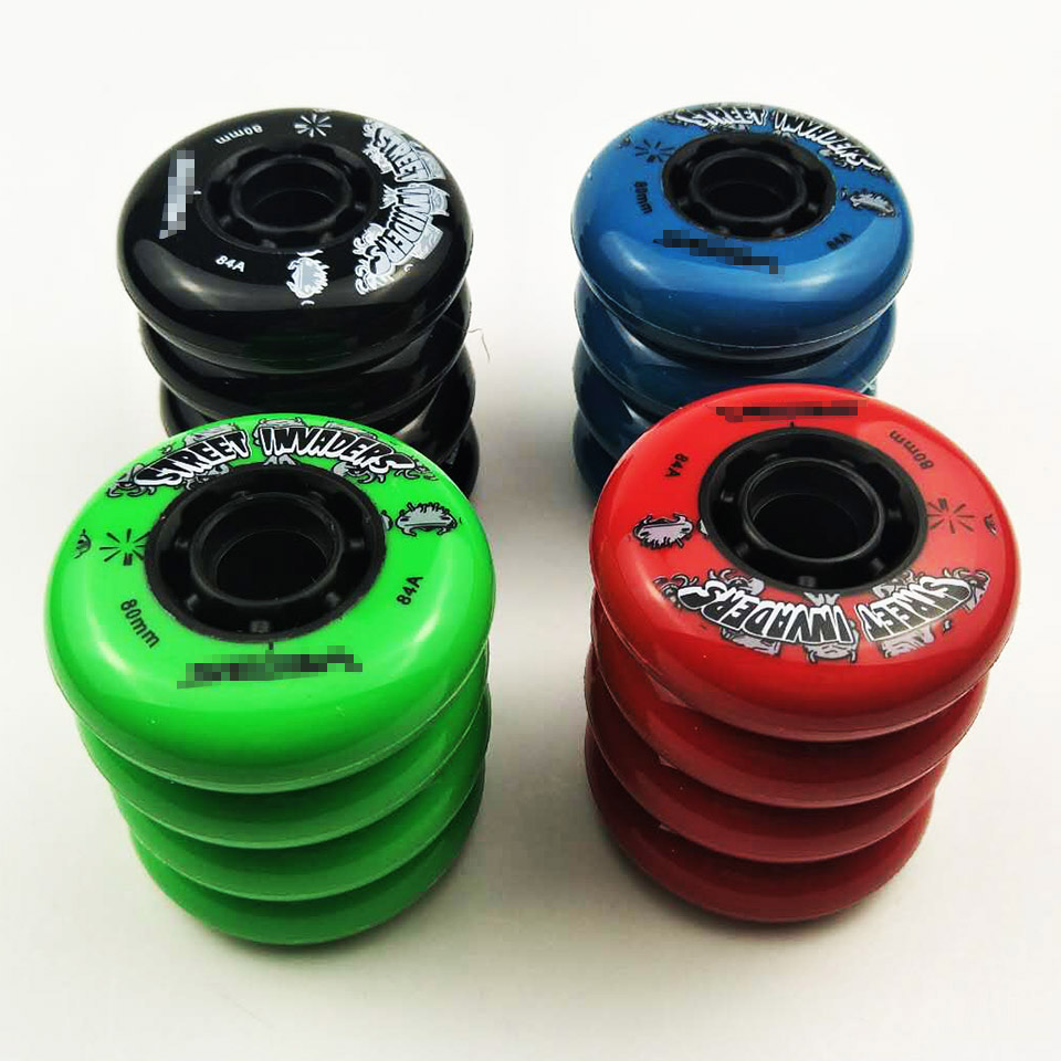 Skate Wheel SEBA HV Tires 80/76/72MM 4 Pieces/lot 84A Street Invaders Skating Wheel For Roller FSK Slalom Patines Shoes