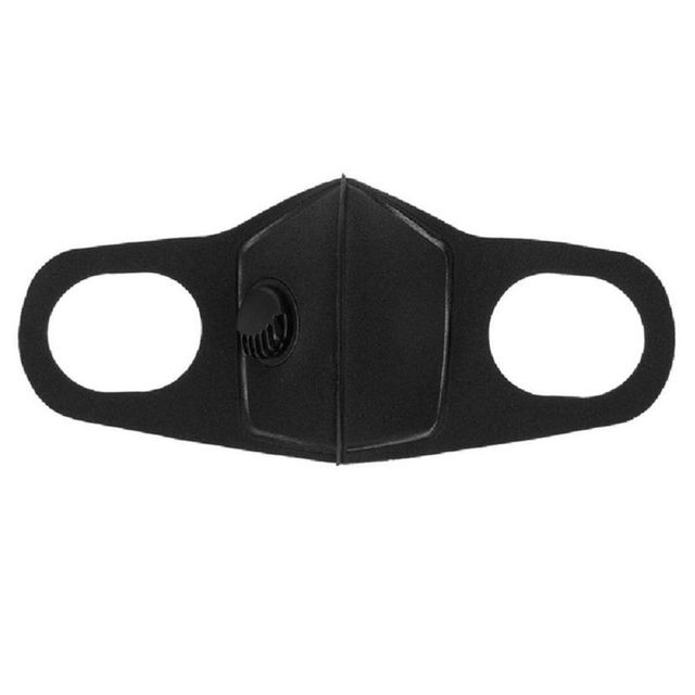 1PC Anti PM2.5 Black mouth Mask Anti Haze Anti-dust Mask Activated Carbon Filter Respirator bacteria proof Flu Face masks 1