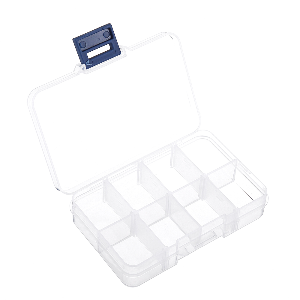 8 Grid Plastic Box Practical Adjustable Compartment Jewelry Bead Storage Case Screw Holder Case Display Organizer