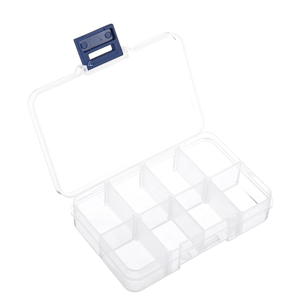 8 Grid Plastic Box Practical Adjustable Compartment Jewelry Bead Storage Case Screw Holder Case Display Organizer