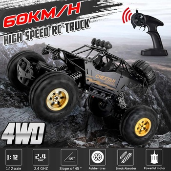 36cm 1:12 4WD RC Cars Updated Version 2.4G Radio Control RC Cars Toys Buggy~High speed Trucks Off-Road Trucks Toys for Children 1