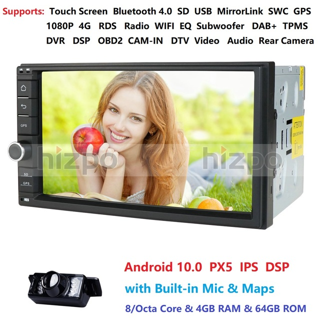 4GB RAM 64GB ROM אנדרואיד 10.0 אוניברסלי לרכב אין DVD 2DIN 7 רדיו לרכב GPS רדיו NXP6686 מולטימדיה Autoradio TDA7851 Automotivo