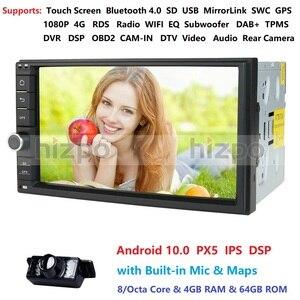 Image 1 - 4GB RAM 64GB ROM Android 10.0 Universal Car NO DVD 2DIN 7 Radio Car GPS Radio NXP6686 Multimedia Autoradio TDA7851 Automotivo