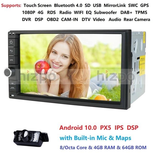 4GB RAM 64GB ROM Android 10.0 Universal Car NO DVD 2DIN 7 Radio Car GPS Radio NXP6686 Multimedia Autoradio TDA7851 Automotivo