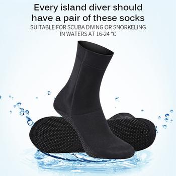 1 para 3mm neoprenowe skarpety do nurkowania buty odporne na zarysowania antypoślizgowe sporty zimowe sporty wodne Snorkeling Surfing buty pływackie tanie i dobre opinie Podkolanówki comfortable Breathable
