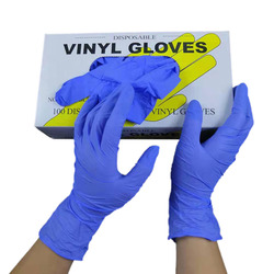 100pcs/Box Disposable Nitrile Examination Gloves Vinyl Food Grade Cleaning Safety Protective Gloves Powder-free Non-Latex Gloves