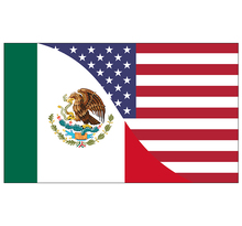 free  shipping  xvggdg  90x150cm  mexico  flag Banner   mexico-USA Friendship Flag  National flag mexico Decoration banner luis miguel mexico