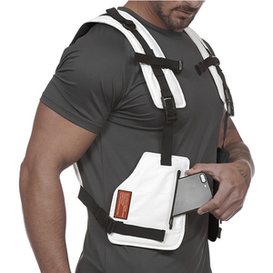Image 5 - Multi function Tactical Chest Bag Vest Outdoor Sports Fitness Men Protective Reflective Tops Vest Oxford Phone Waistcoat