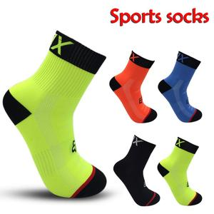 Sports New Cycling Socks Top Quality Professional Sport Socks Breathable Bicycle Sock Outdoor Racing Big Size 4 Colors