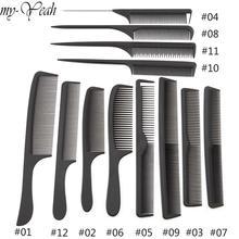 12 стилей Антистатические Парикмахерские расчески запутанные прямые волосы кисти для девочек гребень для конского хвоста Pro салон Уход за волосами инструмент для укладки