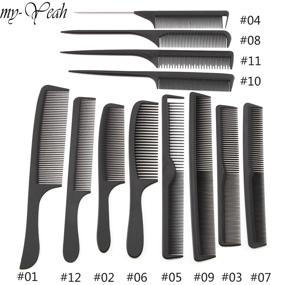12 Style Anti-static Hairdressing Combs Tangled Straight Hair Brushes Girls Ponytail Comb Pro Salon Hair Care Styling Tool