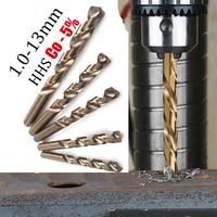 1pcs Straight Shank 1.0 13mm  M35 HSS Cobalt Drill Bits For Metal /WoodWorking/Steel Twist Drill Bit Power Tools Drillforce|Drill Bits|Tools -