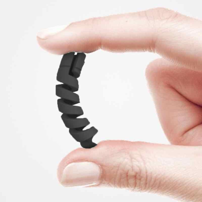 Cable Protector espiral, Cable de datos, bobina de silicona, Protector para iPhone Android, Cable de carga USB