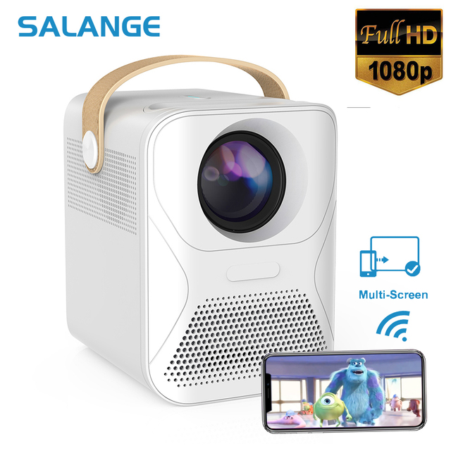 Salange P56 Mini Full HD Projector Led TV Video Projector Phone Movie Wifi 8000mAH Home Theater Compatible Laptops, PC, PS4 1