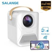Salange-miniproyector Led P56 para cine en casa, dispositivo de proyección de vídeo Full HD para TV, teléfono, películas, Wifi, 8000mAH, Compatible con portátiles, PC y PS4