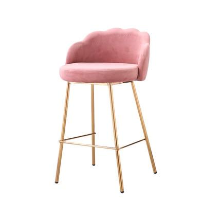 Bar Chair Light Luxury Modern Minimalist Fabric Soft Bag Bar Chair High Stool American Restaurant Front Desk Bar Chair