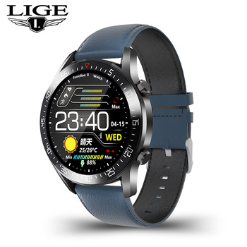 LIGE  fashion Full circle touch screen Mens Smart Watches  IP68 Waterproof Sports Fitness Watch Luxury Smart Watch for men 12
