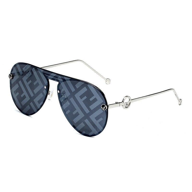 2020 moda carta óculos de sol feminino design da marca do vintage sem aro quadrados máscaras senhoras óculos de sol uv400 oculos de sol feminino