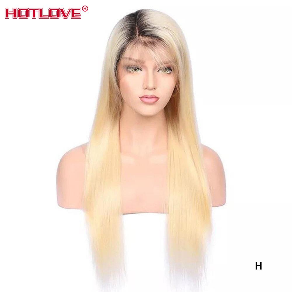 1b613 Blonde Lace Front Human Hair Wigs For Women Brazilian Straight Hair Wigs 13x4 Blonde Hair Lace Front Wig Remy 150% Density