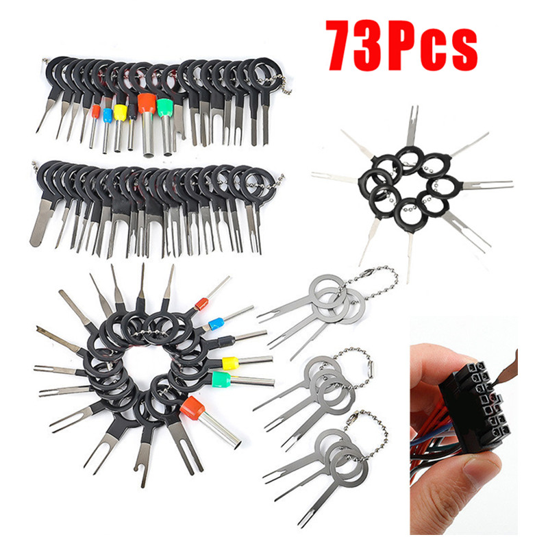 73 59 41Pcs New Car Terminal Removal Electrical Wiring Crimp Connector Pin Extractor Kit Automobiles Terminal Repair Hand Tools