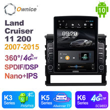 Ownice Android 10.0 Car Radio for Toyota Land Cruiser 11 200 2007 - 2015 GPS 2 Din Auto Audio System Stereo Player 4G LTE