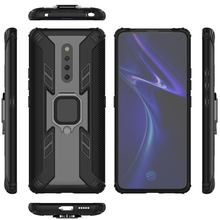 Jagged Warrior Mobile Shell Car Magnetic FOR:VIVO X27pro Ring Stand Shatter-proof Set Business Phone Case