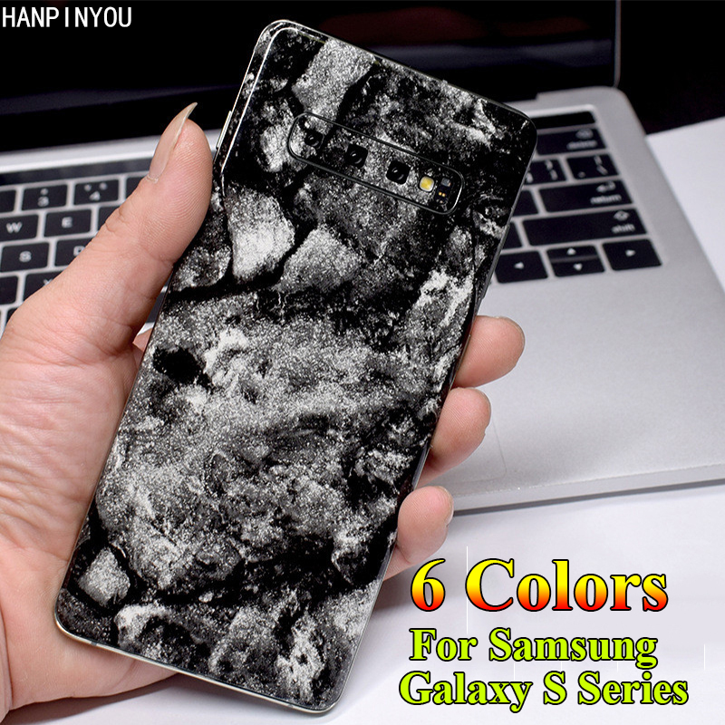 For <font><b>Samsung</b></font> <font><b>Galaxy</b></font> <font><b>S10</b></font> S9 S8 Plus S10e S7 Edge Vintage Marble Rear Back Cover Protective Film Decals Skin <font><b>Sticker</b></font> (Not a Case) image