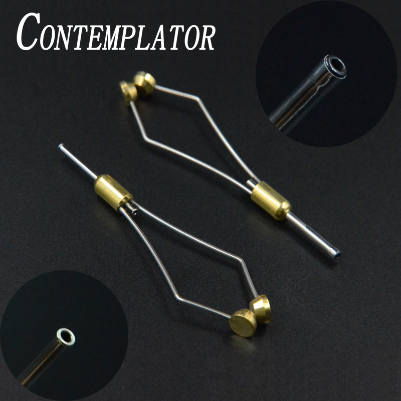 CONTEMPLATOR 2optional Styles Tapered Feet Bullet Bobbin Holder With Arc Mouth Or Black Ceramic Tip Standard Size Fly Tying Tool