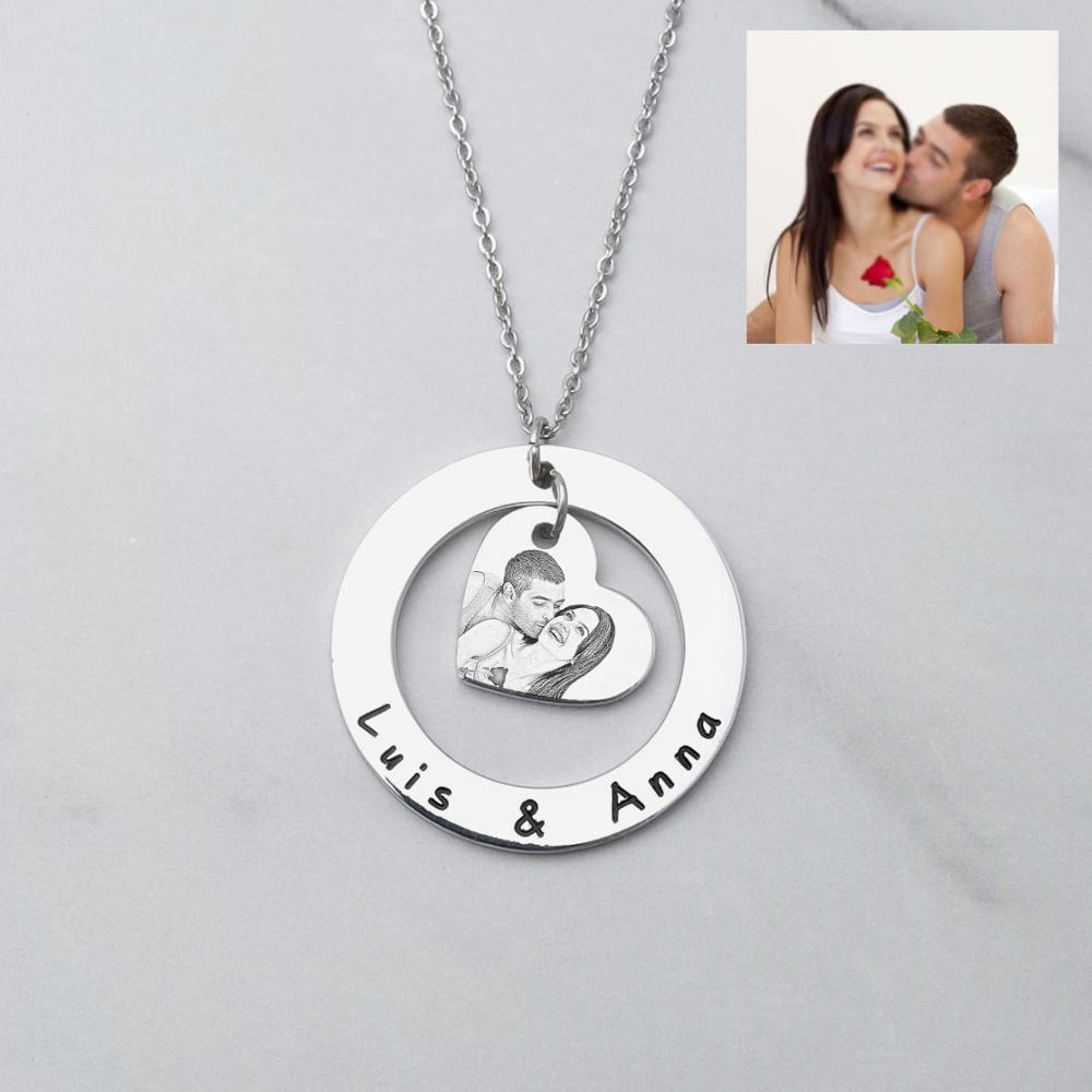 Perosnlaized Necklace Personalized Coin Necklace Custom Coin Necklace -Gold Coin Necklace Engraved Necklace Engraved Coin Necklace