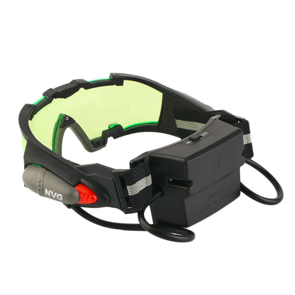 Adjustable LED Night Vision Goggles Eyeshield Glasses w//Flip Out Lights Eye Lens