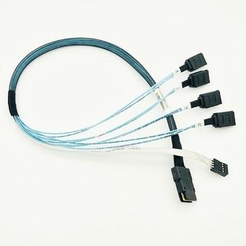58cm Digital Mini SAS SFF-8087 36 PIN to 4 SATA 7 PIN HD Splitter Breakout Cable MINI SAS 36P TO 7 PIN SATA Reverse Cable Gadget
