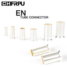 100PCS EN Wire Connector Ferrules Electrical Cable Terminal Copper Bare Tinned Crimp Terminal 0.5mm2-16mm2 AWG 22-10