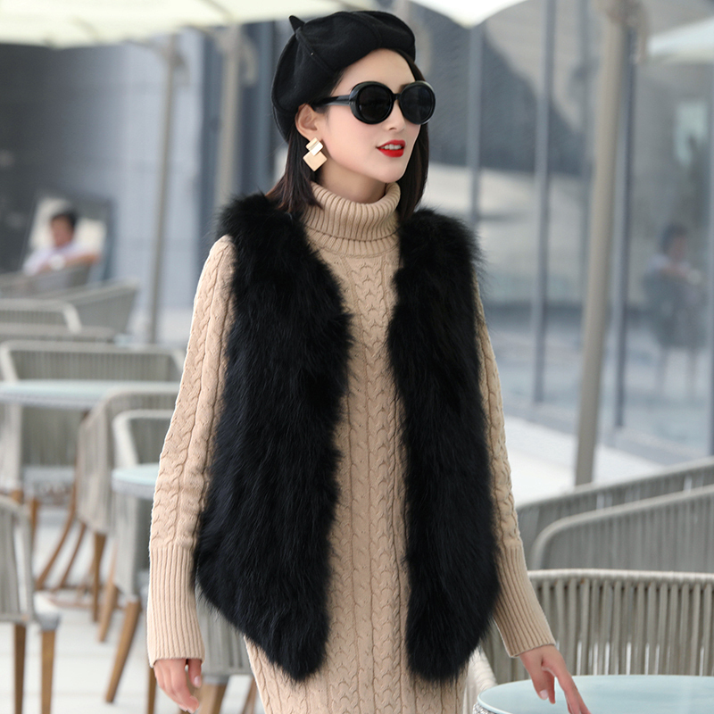 Fur Real Vest Women Clothes 2020 Autumn Winter Jacket Women Raccoon Fur Sleeveless Coat Female Korean Jackets MY3509 S