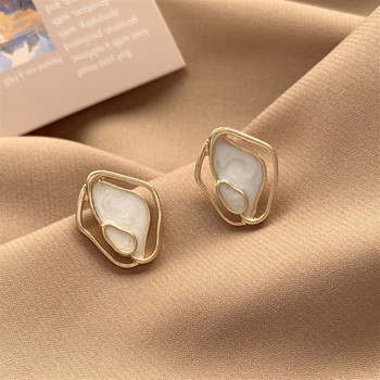 Korean Temperament Minimalistic Geometric irregular Shell Stud Earrings For Women Personality Wild Ins Elegant Female - discount item  30% OFF Fashion Jewelry