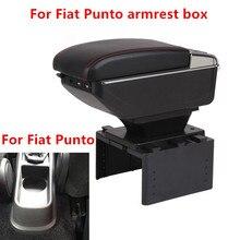 Для Fiat Punto подлокотник коробка зарядка через usb увеличивает двухслойный центральный магазин содержание держатель стакана, пепельница аксессуары