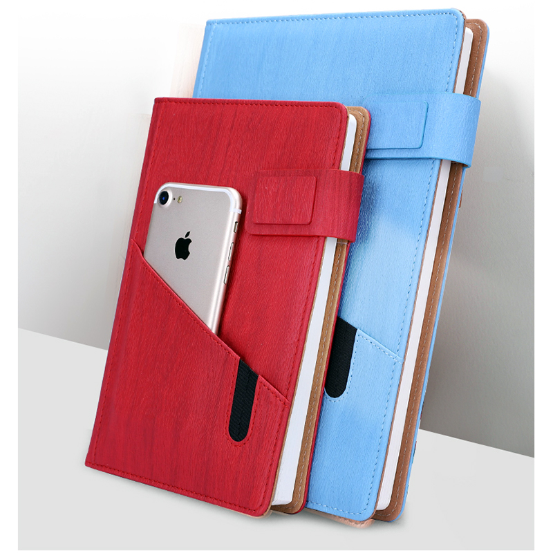 RuiZe multifunction leather notebook A5 planner agenda 2020 big B5 note book notepad office stationery supplies