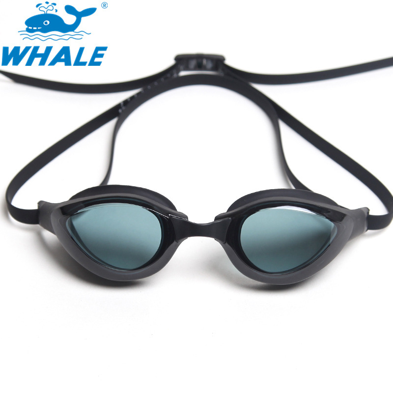 Whale Goggles 2019 New High-definition Plain Glass Waterproof Anti-fog Silica Gel Eye Protection Adult Swimming Glasses