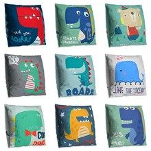 New Cartoon Dinosaur Decorative Pillow Cushion Covers Pillowcase Cushions For Sofa Double-sided Pillow Cover cuscini decorativi new cartoon dinosaur decorative pillow cushion covers pillowcase cushions for sofa polyester pillowcover cuscini decorativi