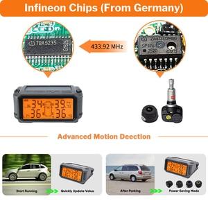 Image 4 - Tire Pressure Monitoring System TPMS Sensor Solar Car Security Smart Tyre Control Wireless 4 Wheels External Internal Sensors