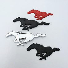 For Ford Mustang Shelby GT Car decoration body car stickers accessories,universal Styling 3D Metal Running Horse Decal