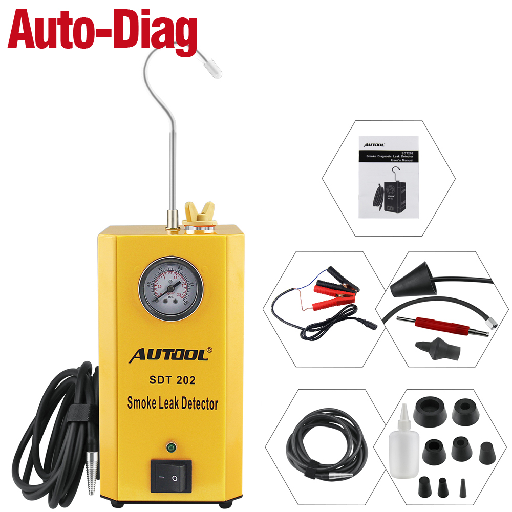 AUTOOL Universal Easy Intake Adapter for 12V Vehicle Pipes Fuel Leakage Detector Diagnositc Tester
