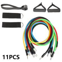 11pcs Fitness Pull Rope Latex Resistance Bands Body Fitness