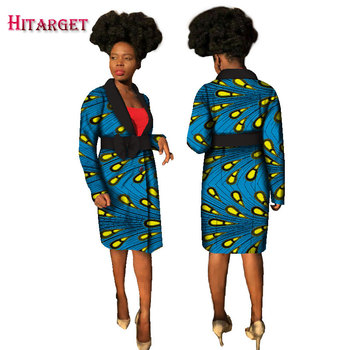 2020 New Hitarget Women Long Sleeve Trench Coat Bazin Riche African Print Coat Traditional African Trench Coat Clothing WY2067