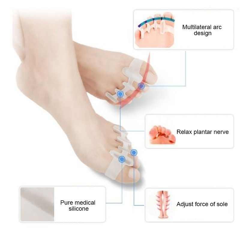 2pcs Voeten Care Tool Teen Separator Overlappende Tenen Revalidatie Behandeling Hallux Valgus Bretels Voet Bone Orthopedische Apparaat