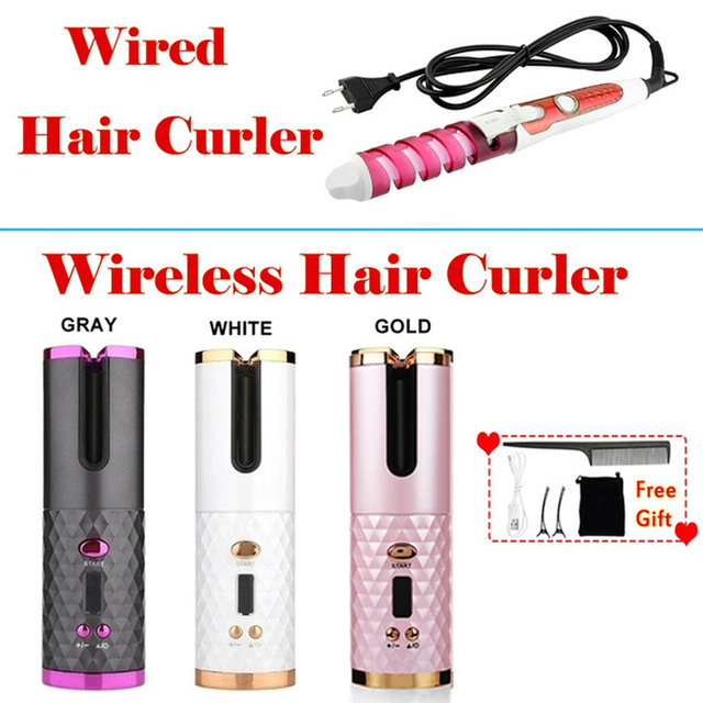 Wireless Curling Iron for Hair 3