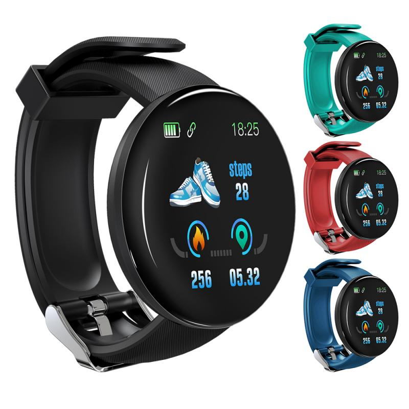D18 Bluetooth Smart Watch Blood Pressure Heart Rate Smartwatch Sport Tracker Pedometer 116 Plus Smart Watches For Android IOS A2