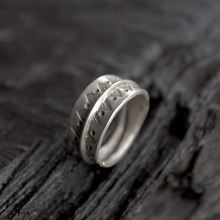 Silver 925 Jewelry Thai Ring Opening Female Wedding Tea Fashion Width 10.70 mm Weight 8G WT043