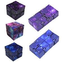 Cubo infinito antiestresse cubo brinquedos inquietação cubo de alívio do estresse cubo brinquedo para crianças crianças masculino brinquedos sensoriais para autismo adhd